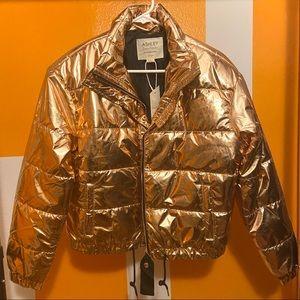 Ashley BRAND NEW Gold Puffer Jacket